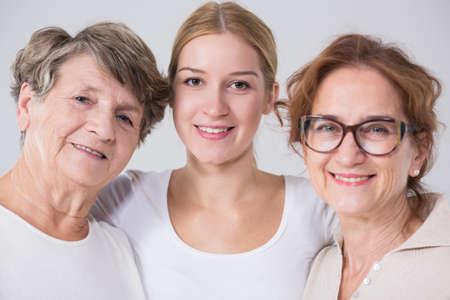 intergenerational: Image of intergenerational family friendship between three women