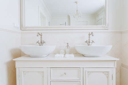 Two washbasins for a couple in the house