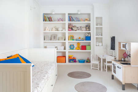 clean carpet: Cozy and beautiful room for a child