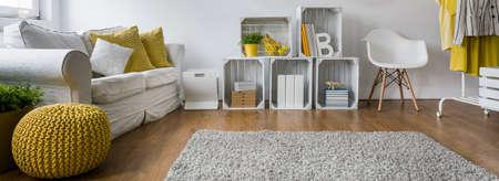 Cozy and fluffy carpet where children can play Archivio Fotografico