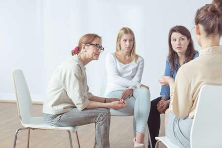 group cooperation: Four successful women have their support group