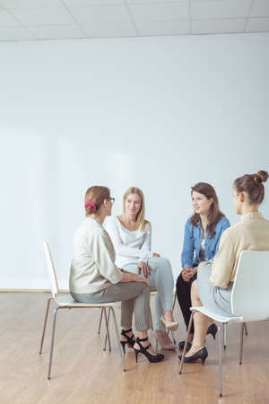women friendship: Couple women are spending time together during seminar