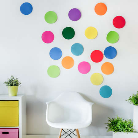 wall paper: Picture of cozy colorful room for children Stock Photo