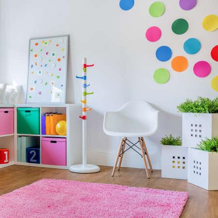 unisex: The idea for colorful designed unisex kids room Stock Photo