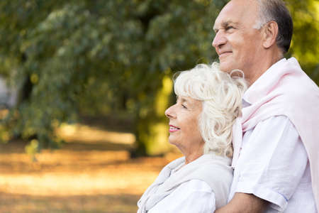 age old: Picture presenting love and romance in old age Stock Photo