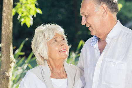 love image: Image of elder couple being in love Stock Photo