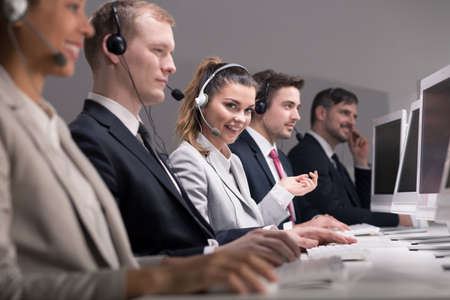 teleoperator: People working in professional call center