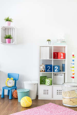 room decor: Shot of an area to play in a childrens room
