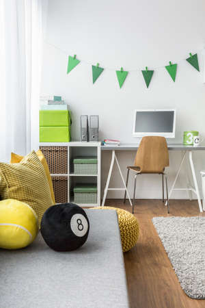 children play area: Shot of a well designed childrens room Stock Photo