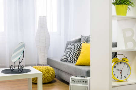 Cropped picture of a modern living room