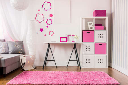 room: New decor of stylish pink girls room