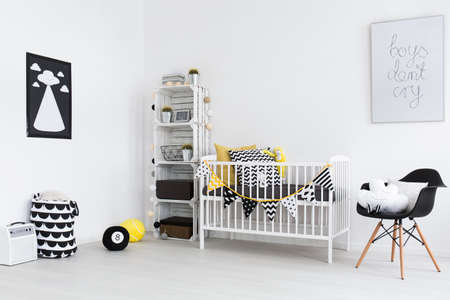 Shot of a modern childrens room