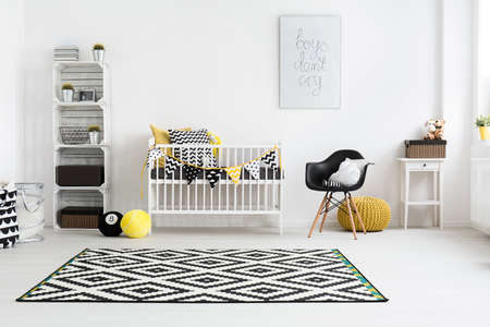pouffe: Shot of a modern baby room