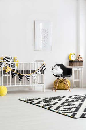 Immagine di una moderna sala nursery