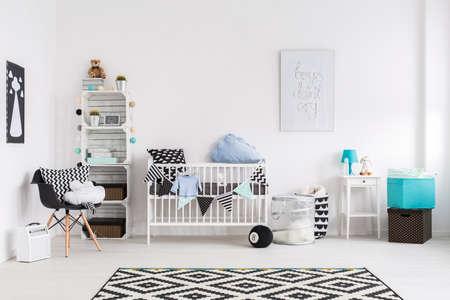 Cuadro de un cuarto de bebé moderna Foto de archivo