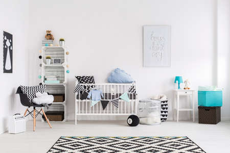 baby crib: Picture of a modern baby room
