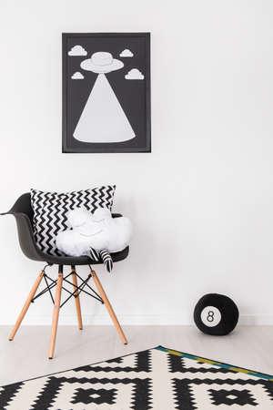 Shot von einem schwarzen und weißen Raum Lizenzfreie Bilder