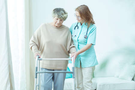 home care: Trusted doctor is helping her old patient