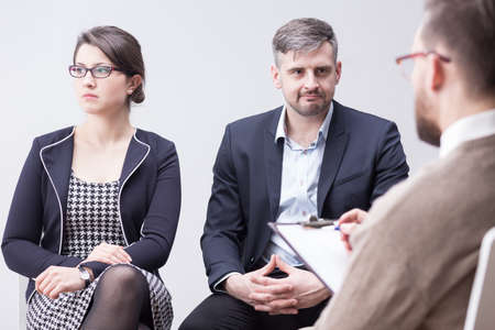 crisis: Crisis in young marriage and couple psychotherapy Stock Photo