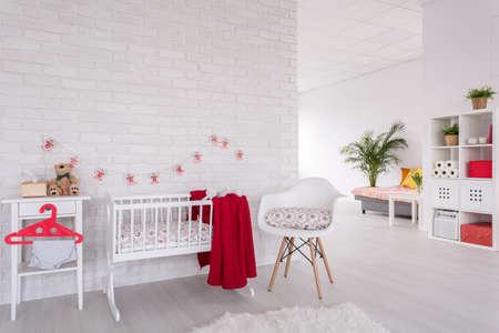 ecole maternelle: Plan d'un appartement moderne et confortable avec une chambre de b�b�