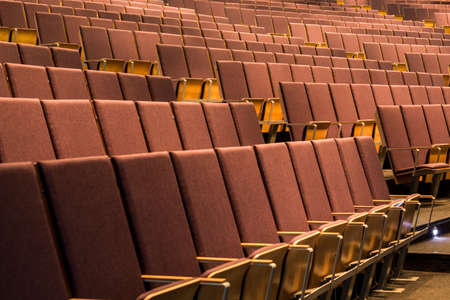 interior spaces: Shot of many rows of chairs in a lecture hall Stock Photo