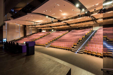 Shot of a spacious empty lecture hall