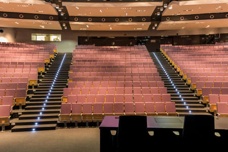 assembly hall: Shot of a large spacious lecture hall Stock Photo