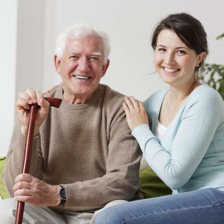 lächelnden alten Mann Lizenzfreie Bilder