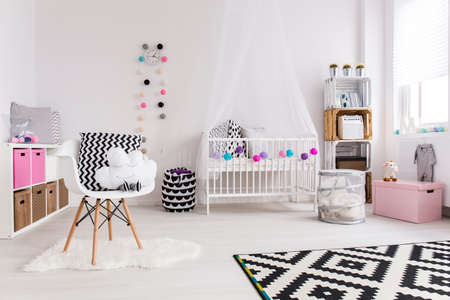 children play area: Shot of a creative spacious baby room