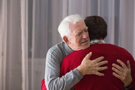 dread: Image of terminally ill man last goodbye
