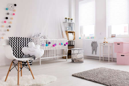 Shot of a cosy spacious nursery full of light