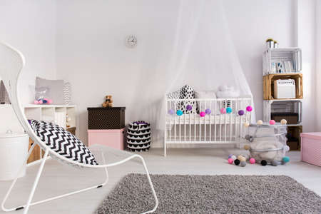 play room: Shot of a cosy spacious baby room