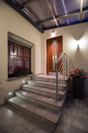 light house: Picture of steps leading to main entrance of beautiful villa
