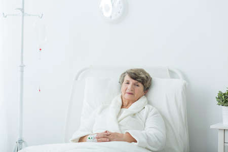 hospital patient: Image of hospital patient during medical treatment