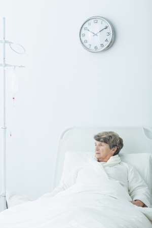 geriatric: Image of geriatric ward patient during therapy