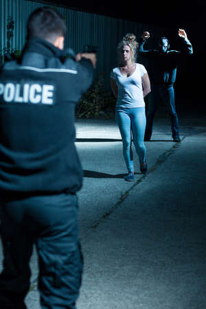 gangster girl: Violent picture of dangerous gangster and hostage