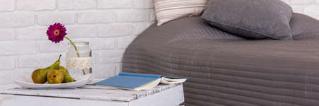 cosy: Panoramic picture of a cosy modern bedroom
