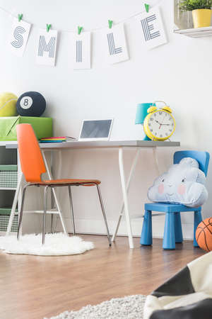 inspiring: Comfortable inspiring focus space for your kid and teenager