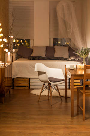 cosy: Shot of a small, cosy, well-decorated room