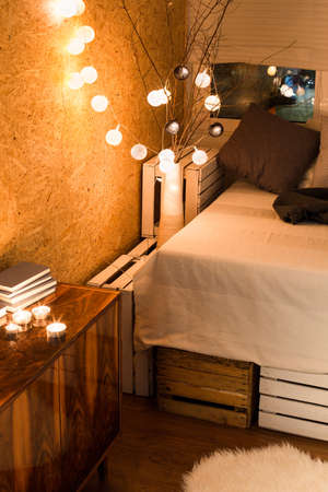 cosy: Cropped picture of a small cosy bedroom