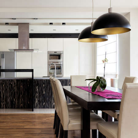 urban apartment: Urban apartment - Kitchen interior with dining table