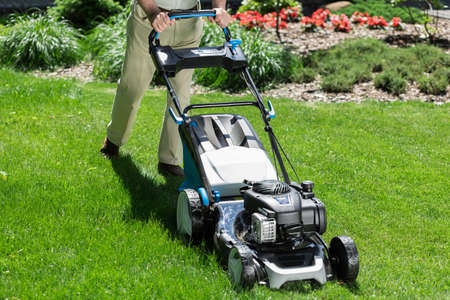 hobbyist: Modern lawn mower for professional garden work