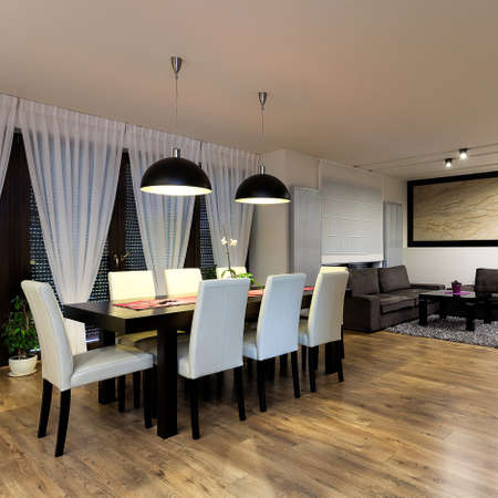 apartment living: Urban apartment - Dining and living room interior