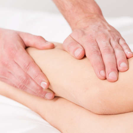lymphatic drainage: Massage lymphatic drainage therapy for swollen legs
