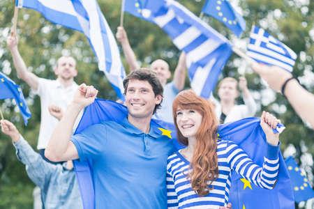 manifest: Happy people - Greece in the European Union