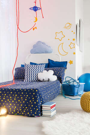 Shot of a little cosy childrens bedroom