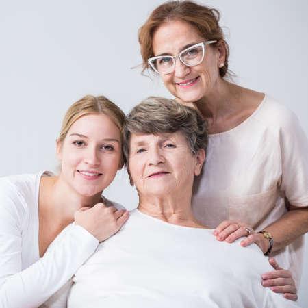 intergenerational: Image of intergenerational family relation between happy women Stock Photo