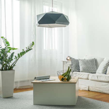 comfortable: Small comfortable living room with wooden floor