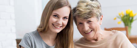 generation gap: Shot of a grandmother and granddaughter spending time together Stock Photo