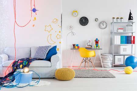 Schot van een ruime ruimte thema ruimte voor kinderen